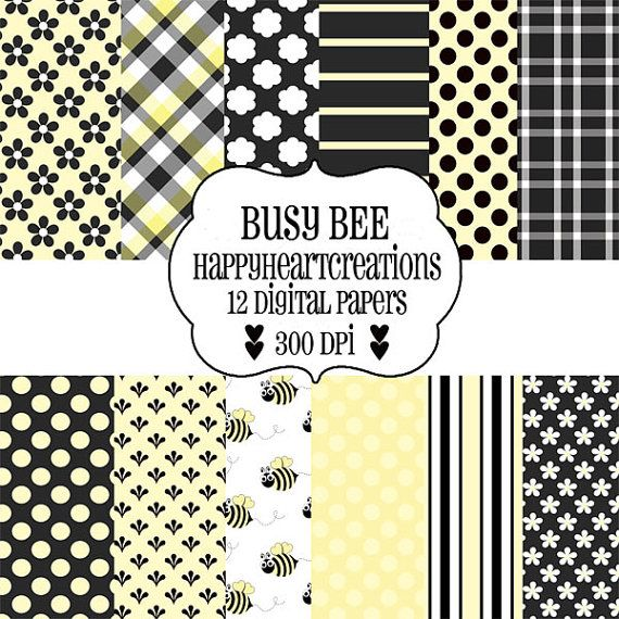 Fonts, Fronts, and Fill-It-Ins: Bee digital paper for $1.50