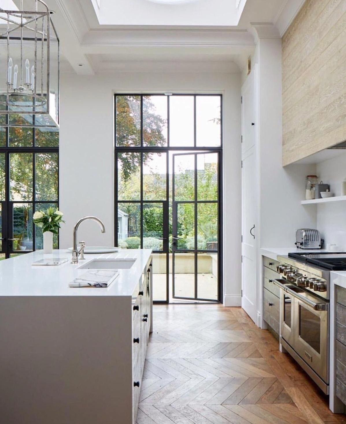 Love the steel black door modernhomedecorlivingroom also future home rh pinterest