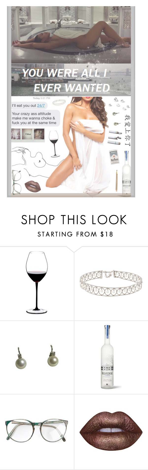 """""""cut the lights on so you can see what I can do"""" by rocio-rivera ❤ liked on Polyvore featuring Riedel, Belvedere, Lime Crime and Dolce&Gabbana"""