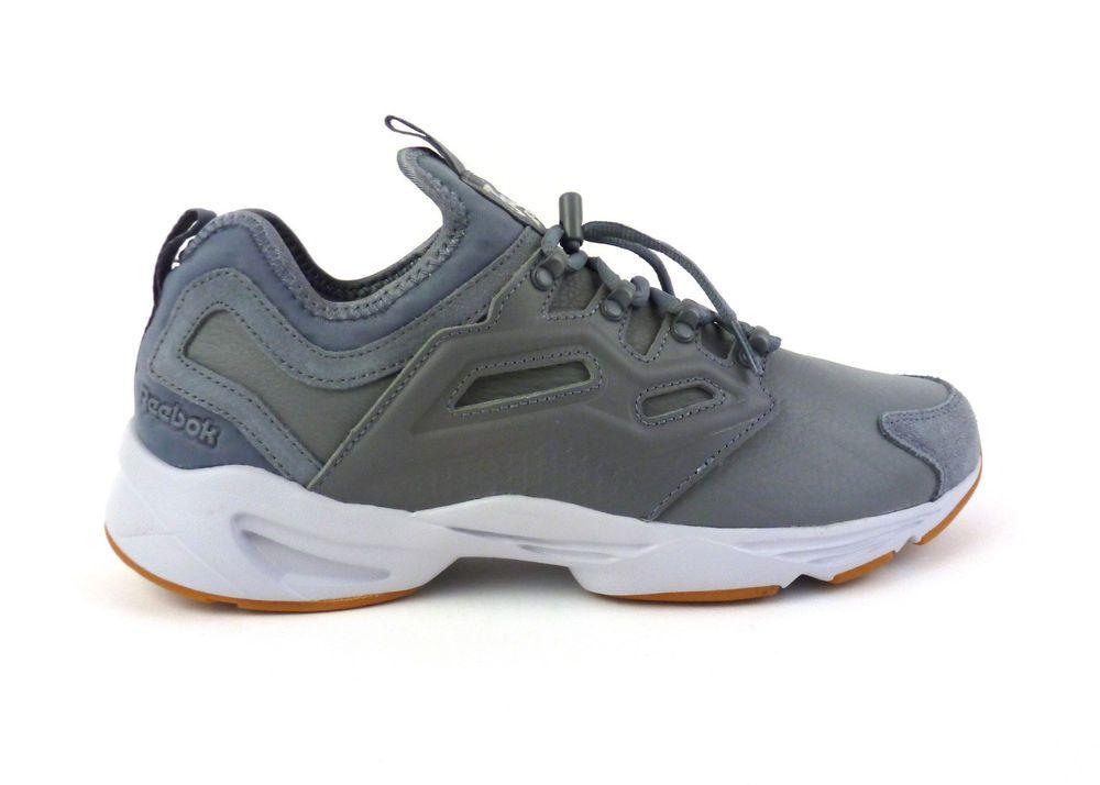 ffe19a1e4e5f30 Reebok men s Fury Adapt casual shoes sneakers kicks Asteroid Dust White  Grey NIB