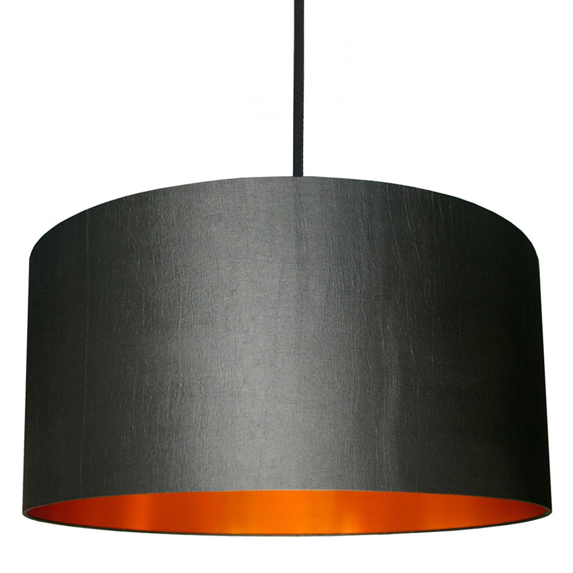 Gunmetal Lampshade With Brushed Copper Lining Grey lamp