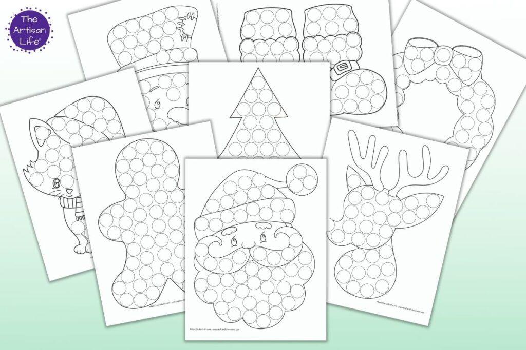 15 Free Christmas Dot Marker Printables No Prep Activity For Kids In 2020 Free Christmas Printables Christmas Tree Coloring Page Gift Tags Diy