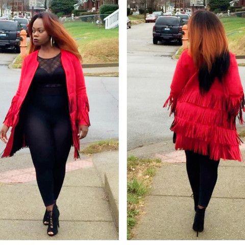 Red shingle Jacket