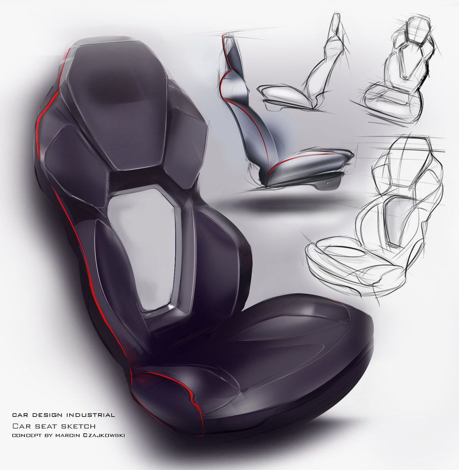 Car Seat Sketch By Czajkovski Deviantart Com On Deviantart New