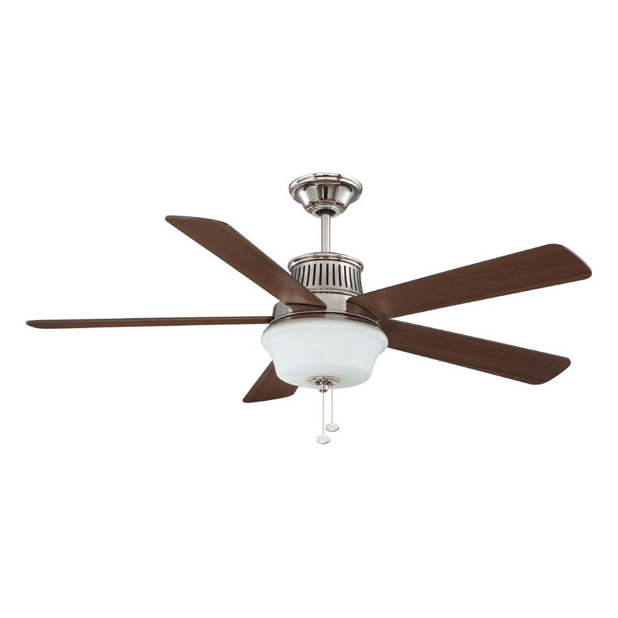 Shop Litex 52-in Polished Nickel Downrod Mount Ceiling Fan