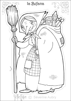 befana Christmas coloring page | CARDS DIGI | Pinterest | Holidays ...