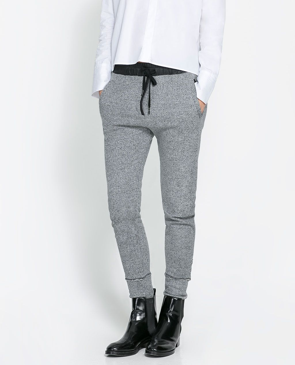 0876c30e Image 2 of GREY VELOUR TROUSERS from Zara | fashion: clothing ...