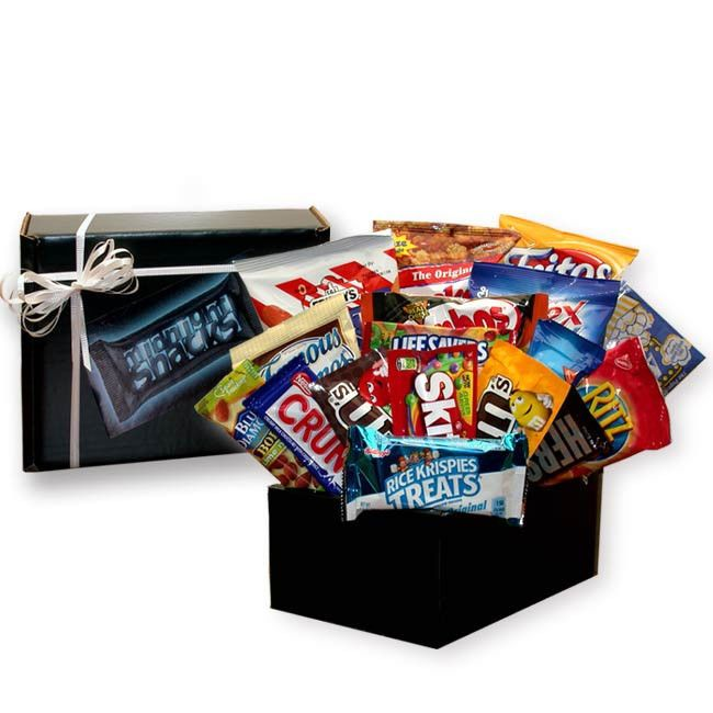 Gift Basket For Him Midnight Munchies Sweets Snack Care