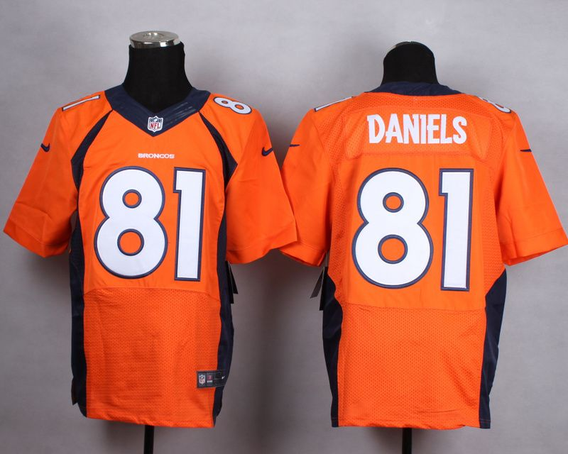 2014 Men's Nike NFL Denver Broncos #81 Owen Daniels Orange New Elite Jerseys