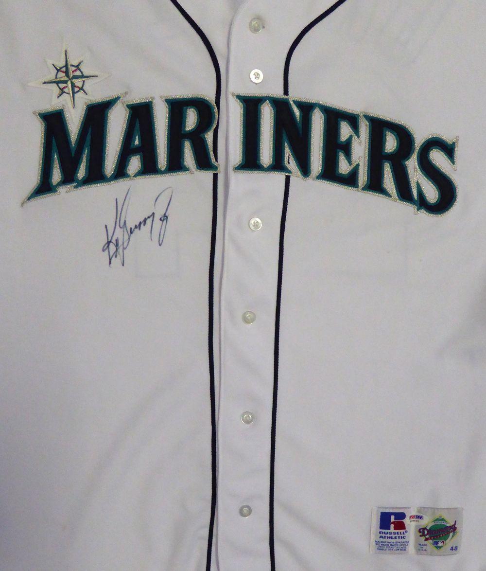 Seattle Mariners Ken Griffey Jr. Autographed Russell Jersey PSA DNA ... b5ec83fe2