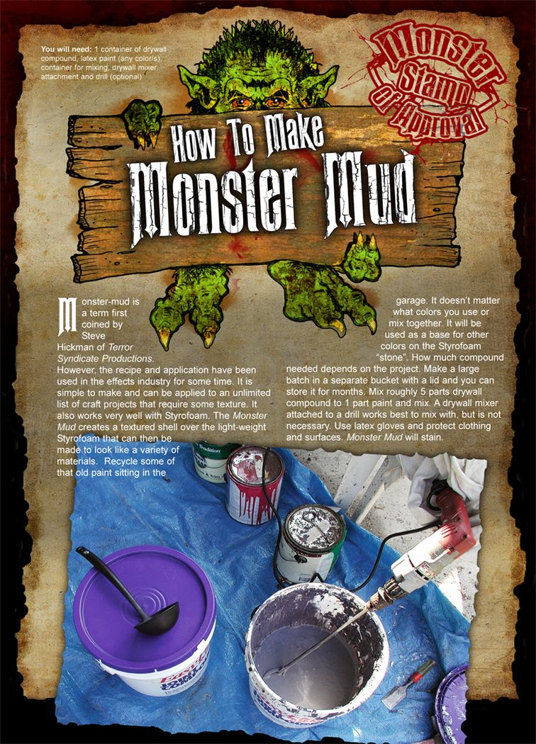 diy haunted house props how to make monster mud Halloween - diy outdoor halloween decorations