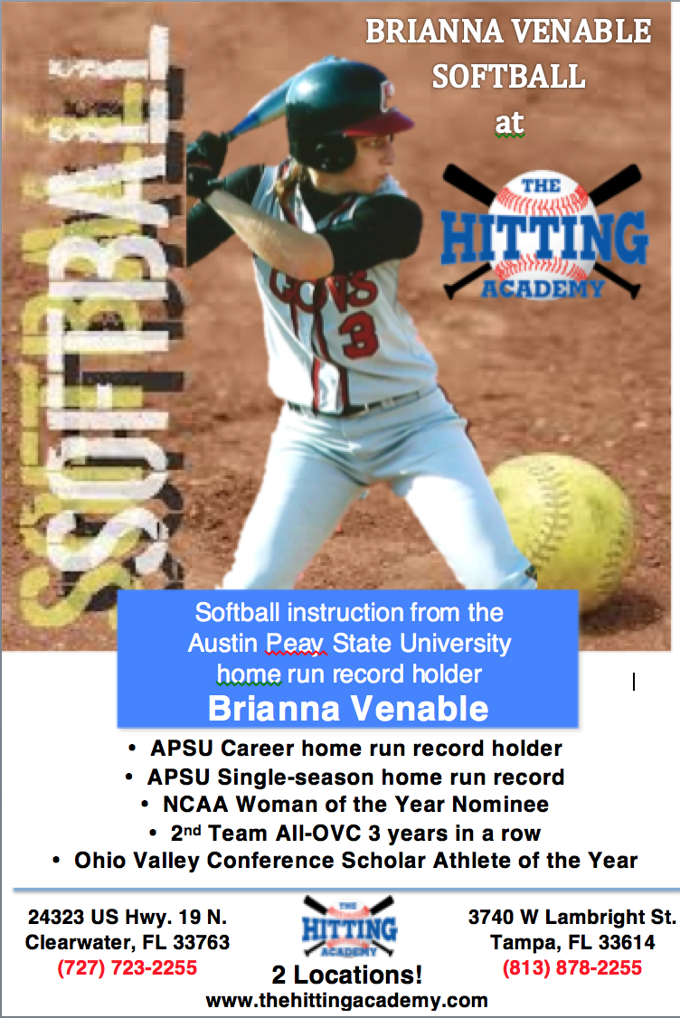 Brianna Venable Is The New Softball Instructor At The Hitting Academy Sign Up For A Lesson Today Softball State University Homerun