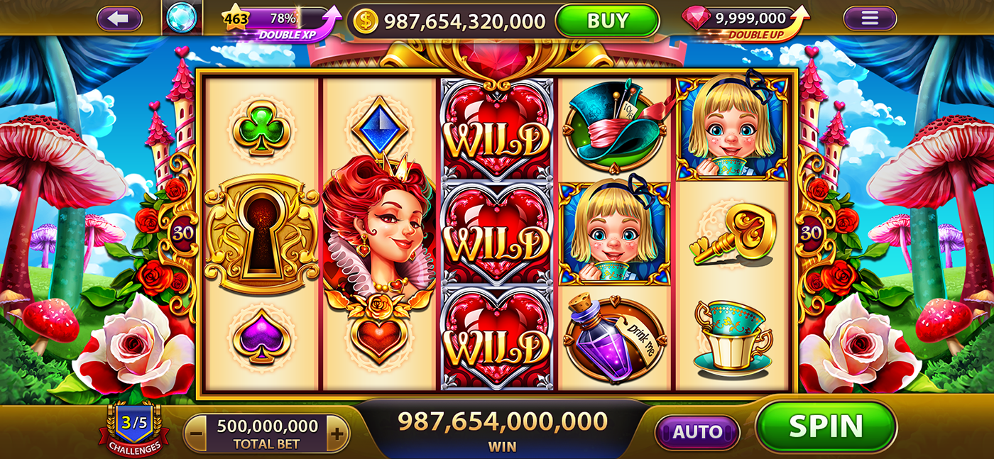 Gaminator Slots Games Queen Hearts