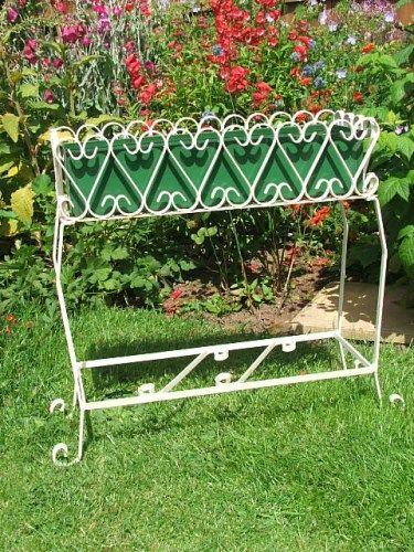 Vintage Wrought Iron Garden Planter Decorative Pottery Vintage