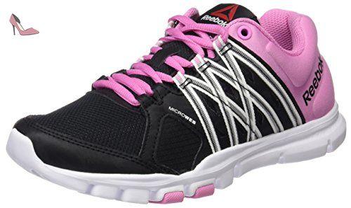 Reebok One Distance, Chaussures de Running Entrainement Femme, Blanc/Gris/Rose (Blanc/Alliage/Rose Icône), 36 EU