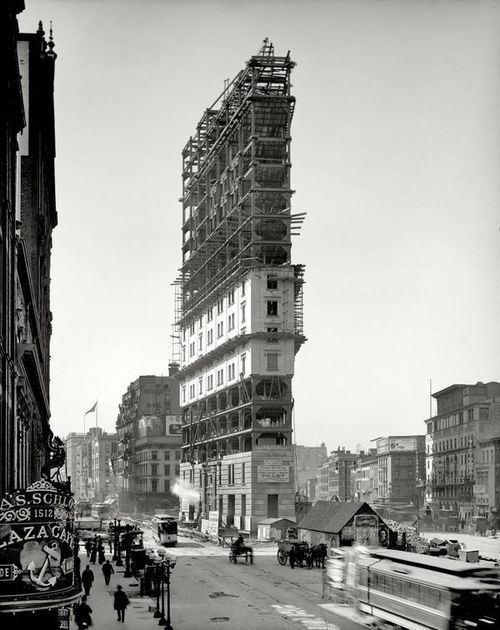 Building Times Square, 1903.