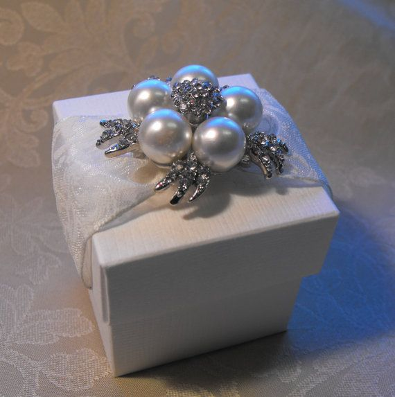 Luxurious Lace and Pearl Wedding Favor (Favour) on Etsy, $6.68 AUD