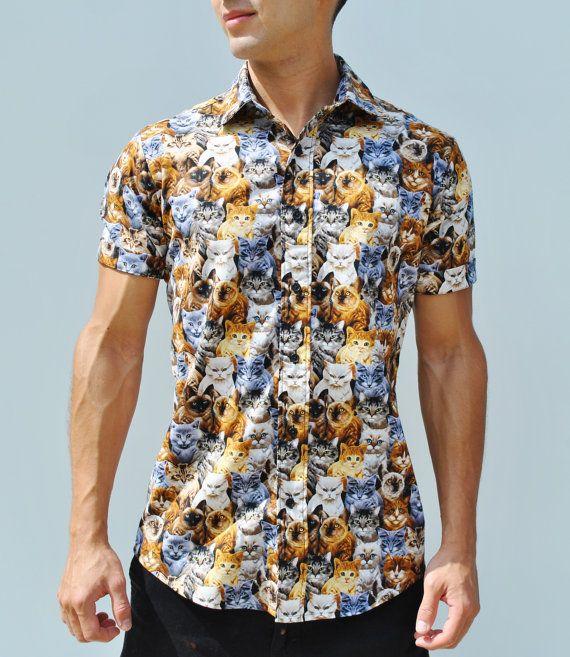 Cats Life Button Up Shirt Men S Button Up Button Up Shirt Mens Mens Button Up Button Up Shirts
