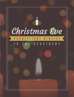 Christmas Eve Candlelight Service Ministry Flyer | Graphic Design ...