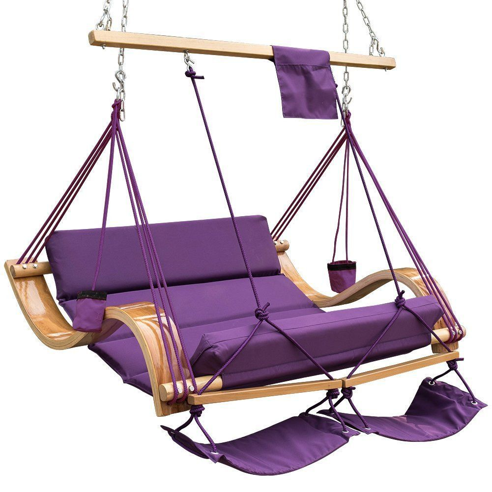 This Hanging Hammock Style Chair Has A Waving Design. The Hammock Chair Is  Made Of