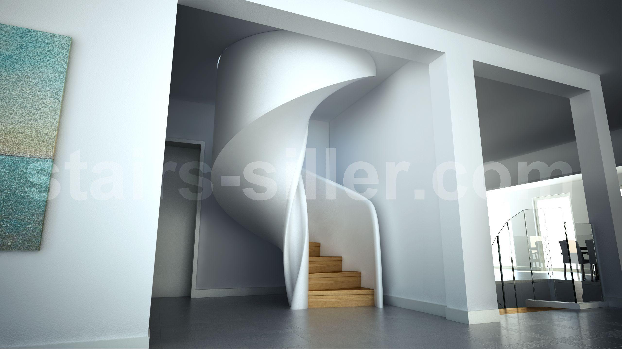 Best Stair Design Tornado As Closed Spiral Staircase 400 x 300