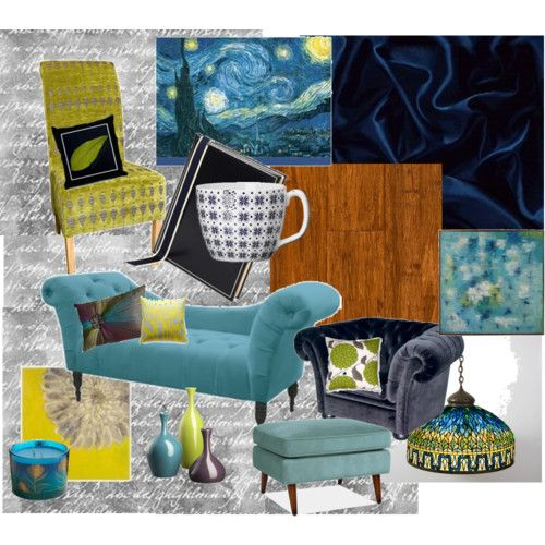 Room Based On Colors From Starry Starry Night By Van Gogh