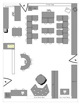 This Is A Detailed Example Of A Physical Classroom Layout It Was