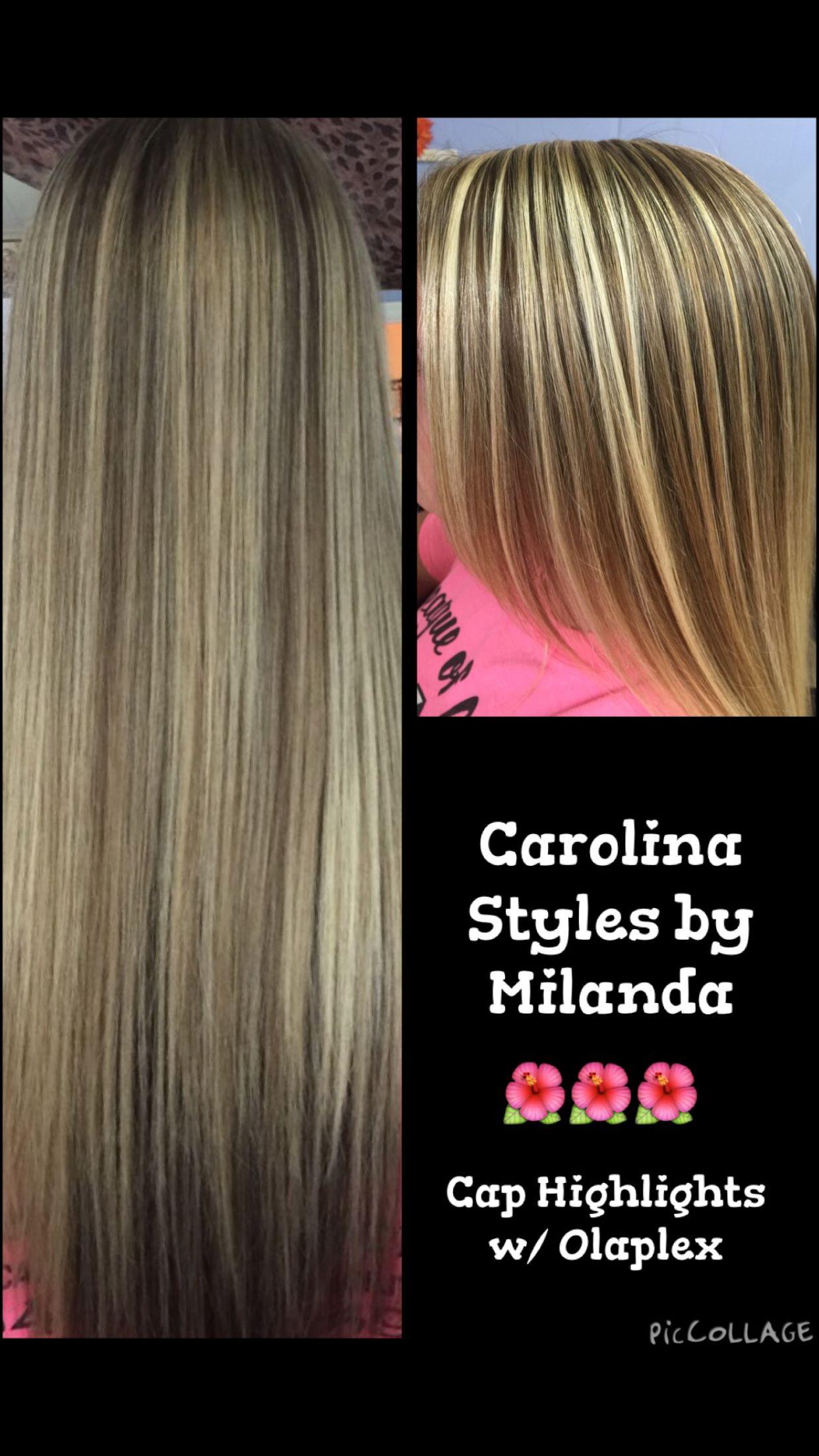 Cap Highlights With Olaplex Carolina Styles By Milanda Pinterest