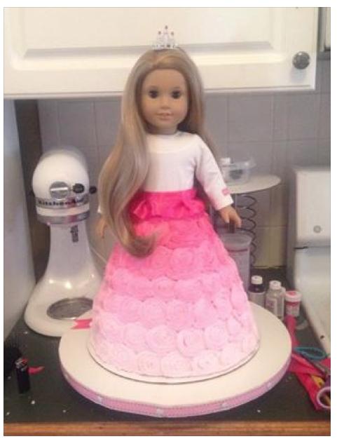 Tremendous American Girl Cake American Girl Birthday American Girl Parties Personalised Birthday Cards Paralily Jamesorg