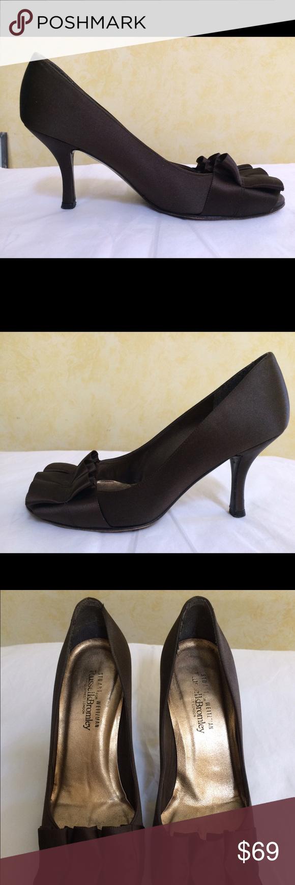 Stuart Weitzman Gigiritz brown satin sz 5.5  $ 350 Stuart Weitzman Gigiritz brown satin sz 5.5 $350 Stuart Weitzman Shoes Heels