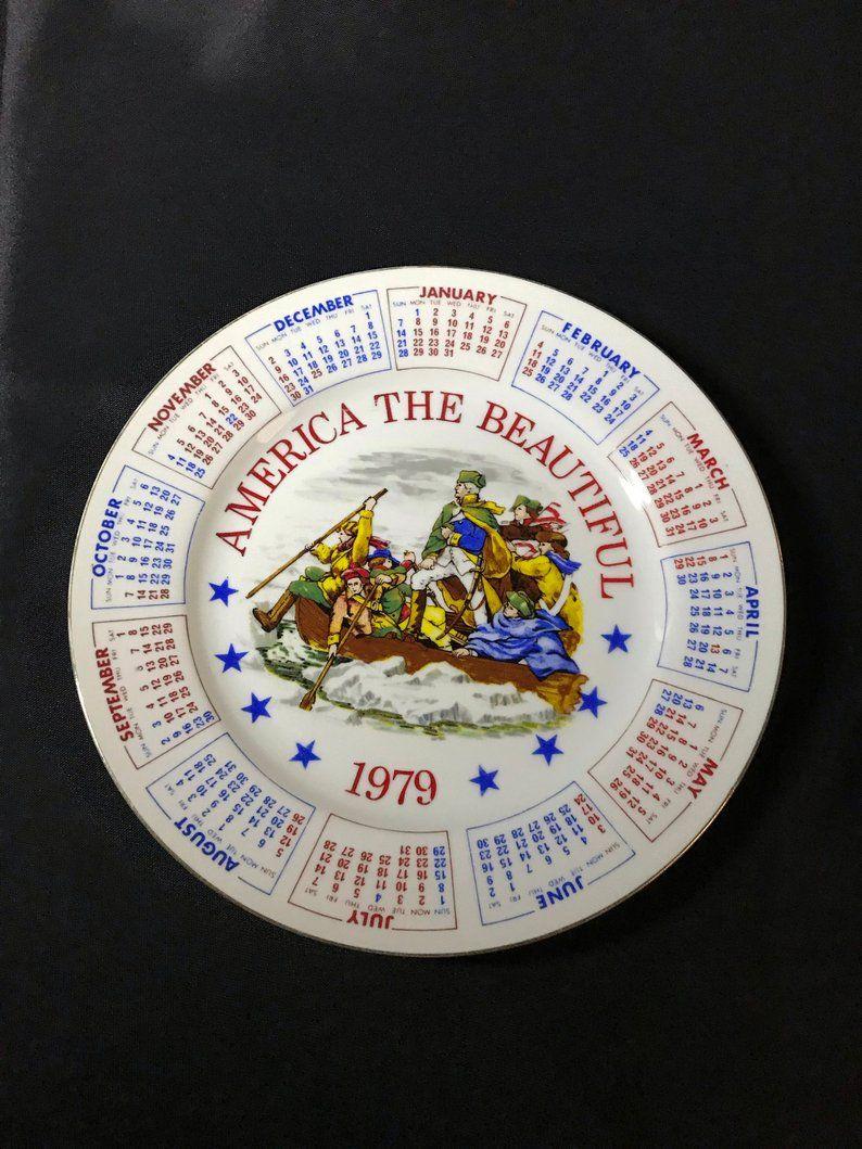 Vintage America The Beautiful 1979 Calendar Plate Series Ii