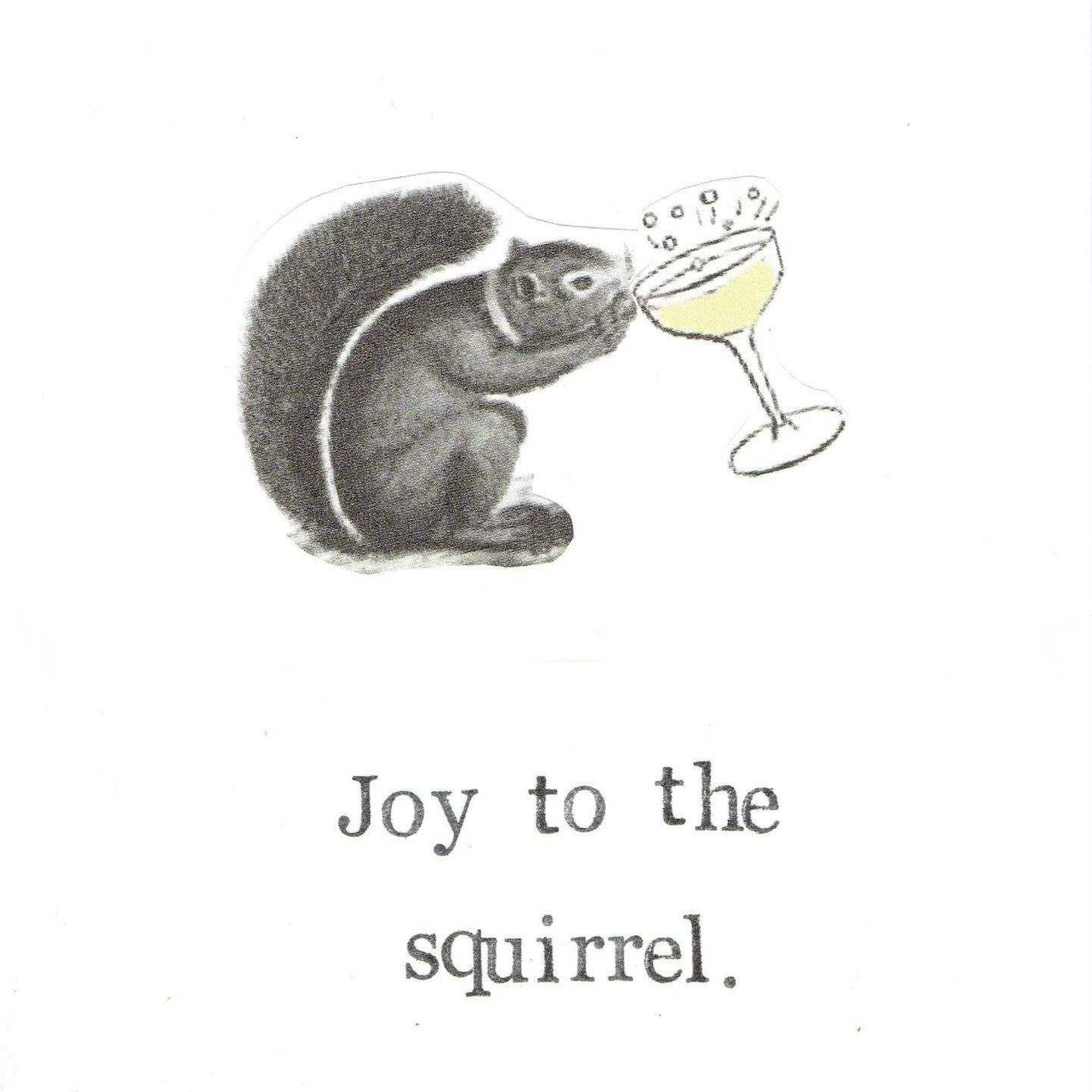 Joy to the squirrel holiday christmas card funny animals seasons funny warm and fuzzy kristyandbryce Gallery