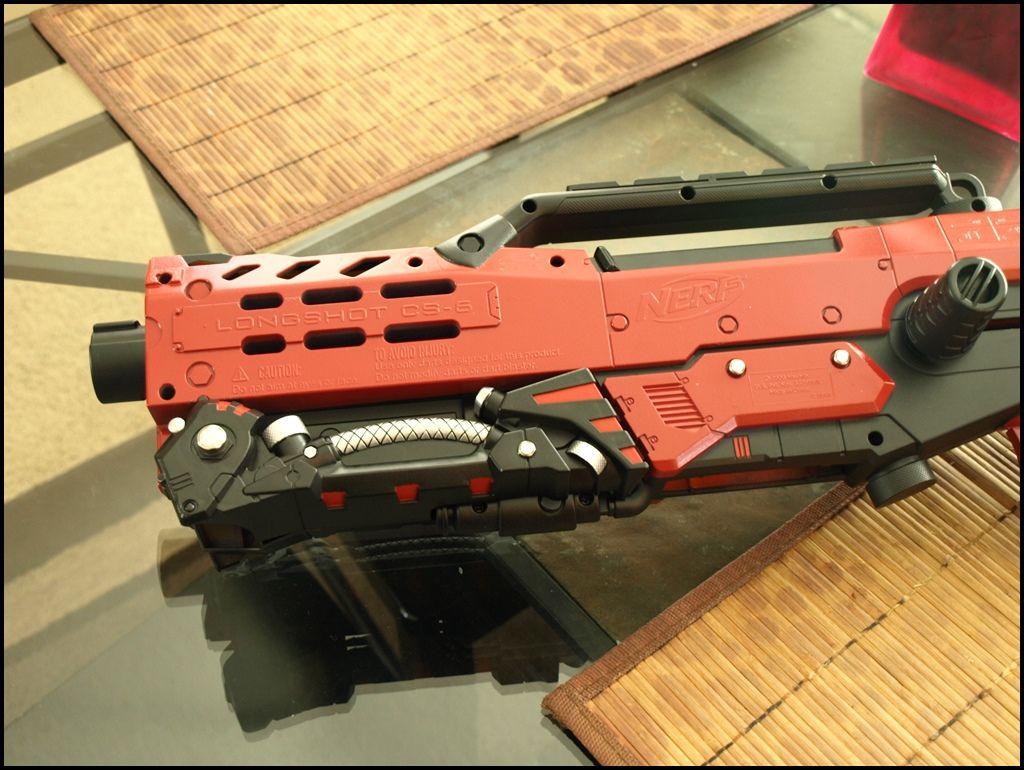 NERF Deploy N-Strike CS-6 Clip Dart Gun Toy Blaster Tactical Light Yellow