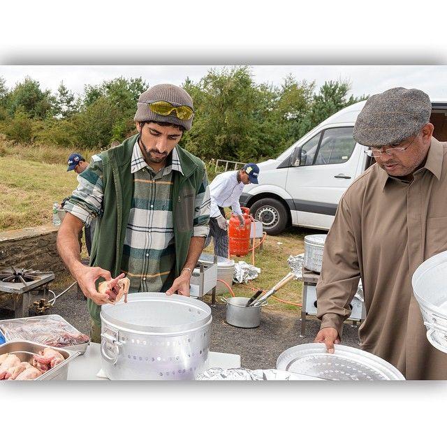 9/14 Sheikh Hamdan and friends' annual grouse hunting trip to Yorkshire. PHOTO: Ali Essa_____Obaid Al Mutaiwaei