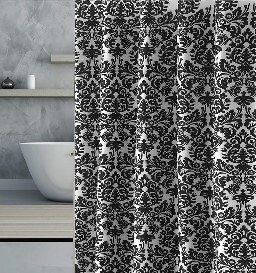 Schwarz Weiss Duschvorhang Fancy In 2020 Black White Shower Curtain White Shower Curtain