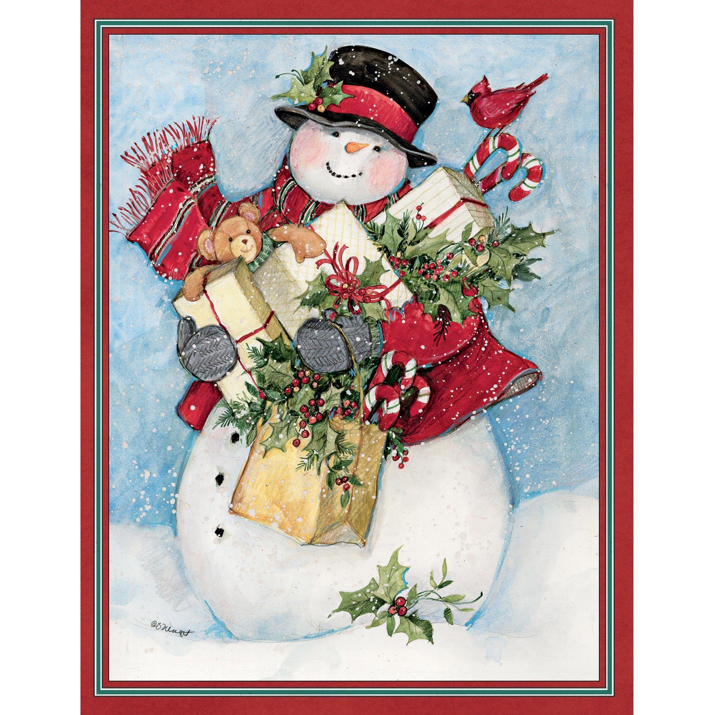 Candy Cane Snowman & Santa Assorted Christmas Card