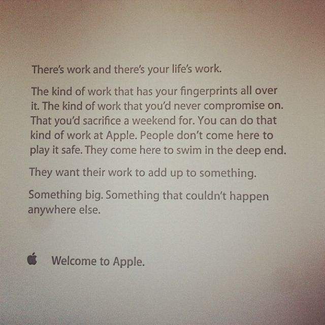 Apple New Employee Welcome Letter  Hiring Campaign