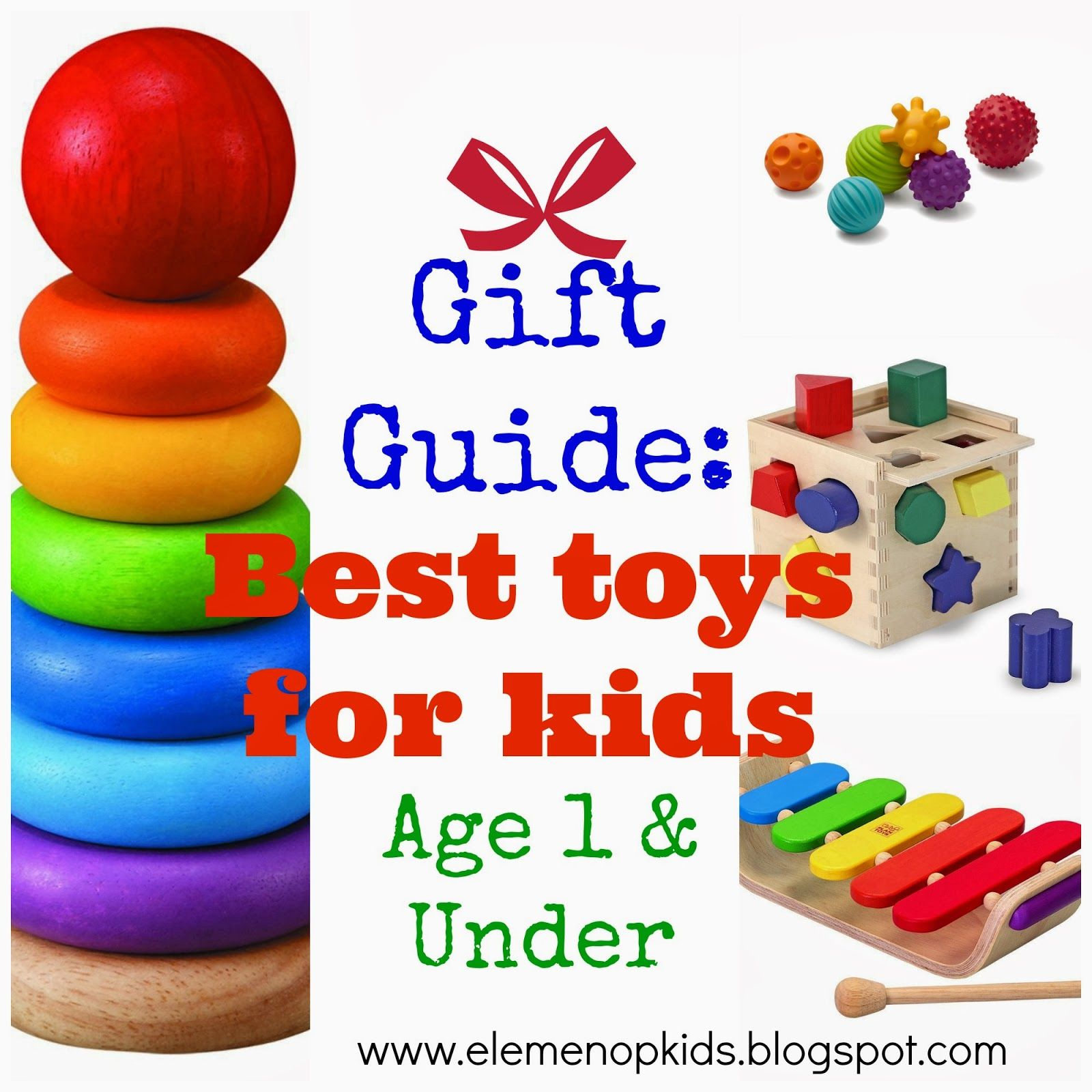 Gift Guide Toys for 1 year olds and under eLeMeNO P Kids