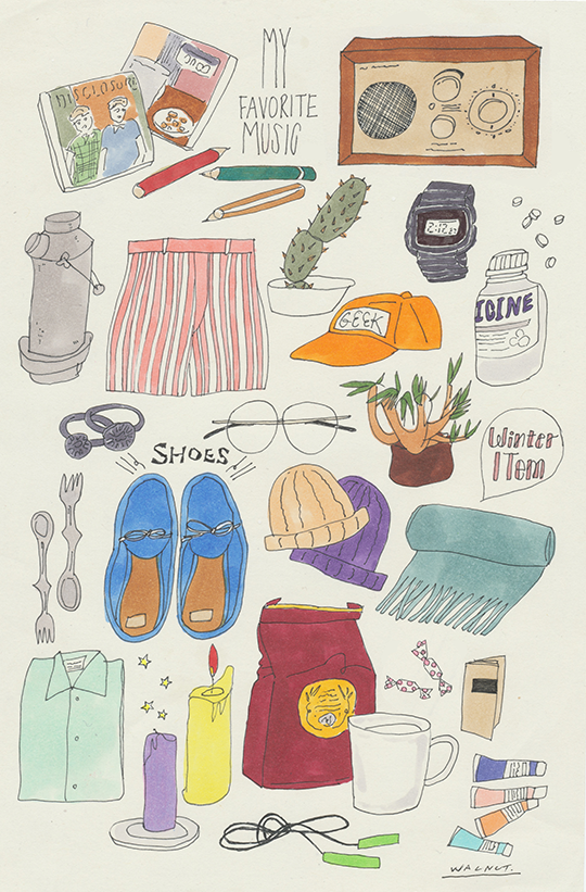 Walnut News Illustration 誕生日 イラスト 手書き 文房具 イラスト