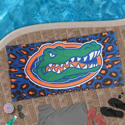 Florida Gators Leopard Beach Towel