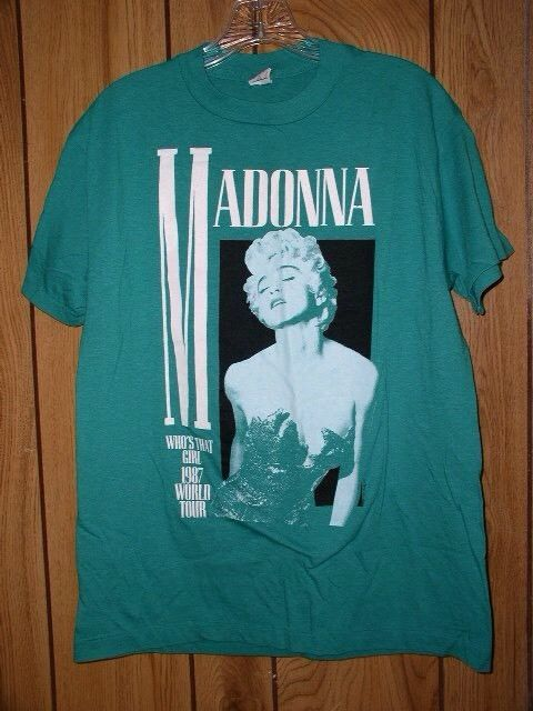 84cdc09130507 Madonna t Shirt Vintage 1987 Who's That Girl World Tour Concert Tee ...