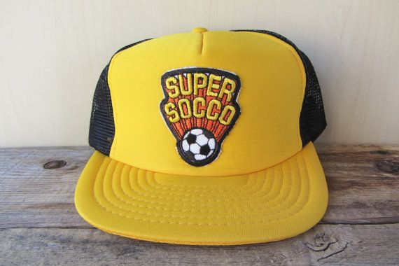 a4cfb972a10 VTG 80s SUPER SOCCO Rare Defunct Sports Drink Snapback hat Original    HatsForward