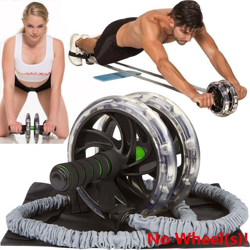 ABDOMINAL EXERCISE ROLLER ABS AB BODY FITNESS STRENGTH TRAINING ABS WHEEL GYM