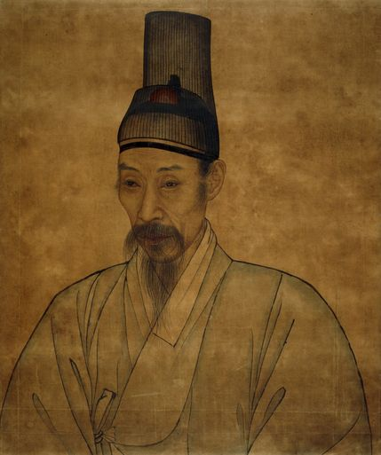 Portrait of a Confucian scholar, Late Joseon dynasty. Attributed to Yi Che-gwan (1783-1837). Joseon Korea