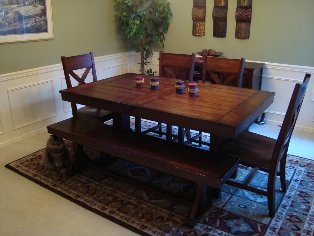 World Market Mahogany Verona Trestle Table Home Ideas