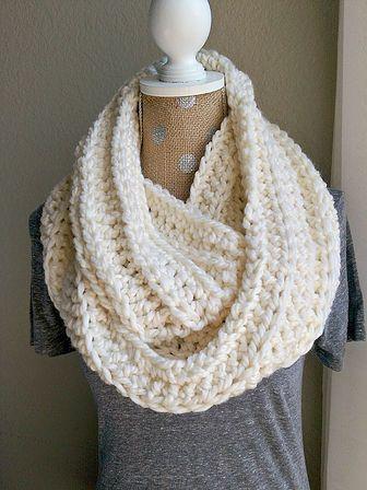 Chunky Crochet Scarf-Cream   crochet   Pinterest   Chunky crochet ...