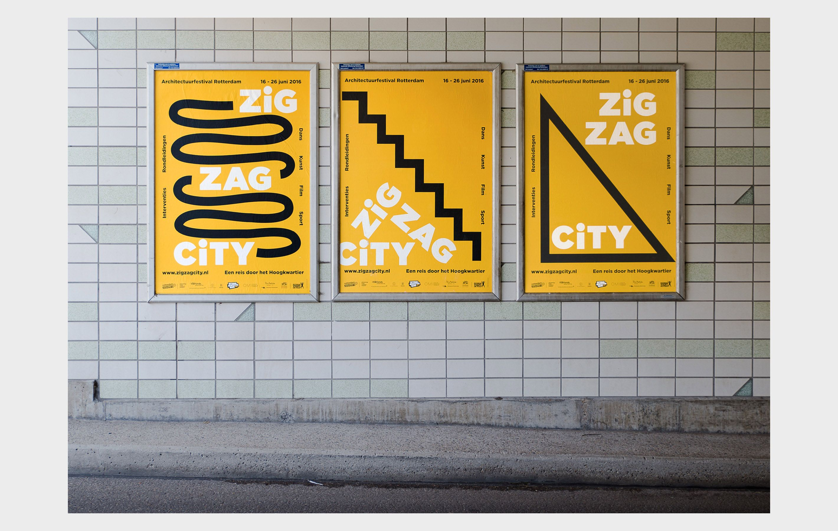 The studio got commissioned to create a new identity for rotterdam