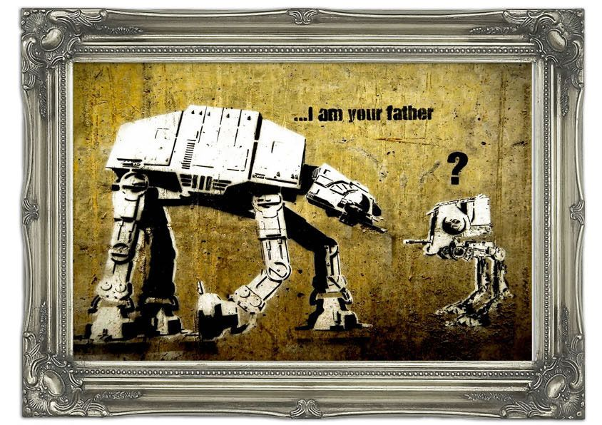 I Am Your Father Yellow Banksy Wall Murals A number of Sizes, Prices ...