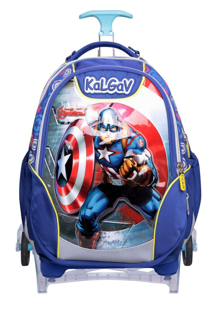 f815025cc085 Avengers Captain America X-bag Trolley School Wheel Rolling Backpack For  Boys  DisneyPixxar  TrolleyBackpackCombination