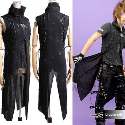 Gothic/Punk Laced and Buckled Sleeveless Long Coat | Fashion ...